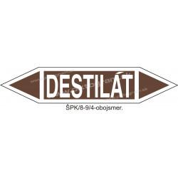 Destilát - označenie potrubia