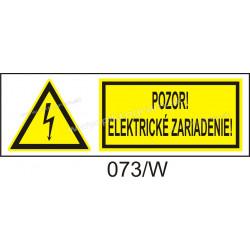 Pozor! Elekrické zariadenie!