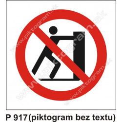 Zákaz posúvať predmety