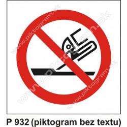 Zákaz používať na rovinné brúsenie