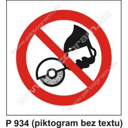 Zákaz používať ručnú brúsku