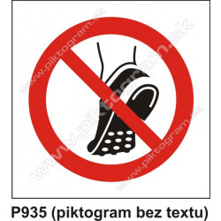 Zákaz nosenia obuvi s kovovými časťami na podrážke