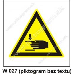 Nebezpečenstvo poranenia ruky