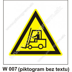 Nebezpečenstvo pohybu priemyselných vozidiel