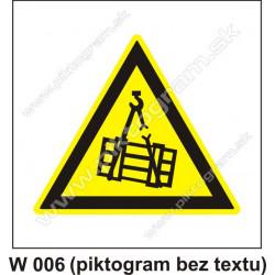 Nebezpečenstvo pádu alebo pohybu zaveseného predmetu