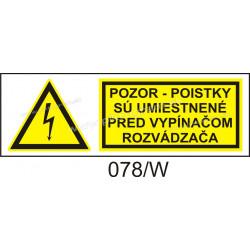 Pozor - poistky sú umiestené pred vypínačom rozvadzača