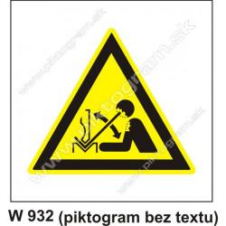 Nebezpečenstvo poranenia pracovným predmetom
