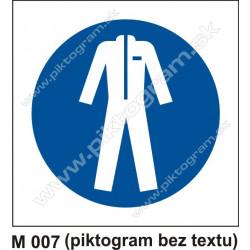Príkaz na nosenie ochranného odevu