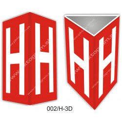 H - podzemný hydrant 3D označenie