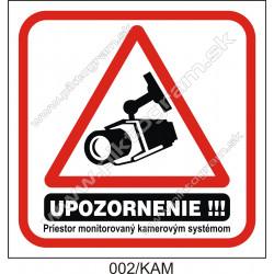 Priestor monitorovaný kamerovým systémom