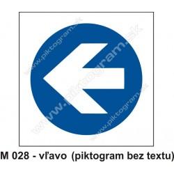 Prikázaný smer (vľavo alebo v pravo)