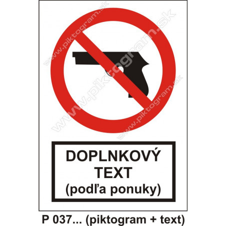 Zákaz vstupu so zbraňou