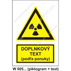 Nebezpečné rádioaktívne alebo ionizujúce žiarenie