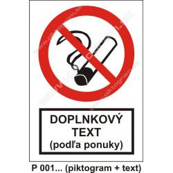Zákaz fajčenia (piktogram + text)