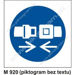 Príkaz na používanie ochranných pásov