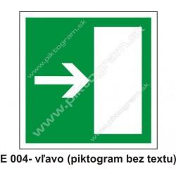 Úniková cesta - únikový východ vpravo