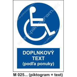 Cesta vyhradená pre užívateľov invalidných vozíkov