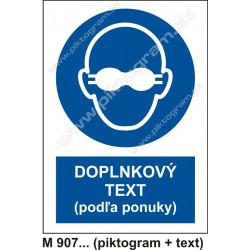 Príkaz na používanie tmavých okuliarov