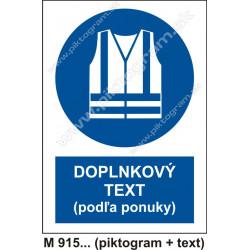 Príkaz na používanie odevu s reflexnými pásmi