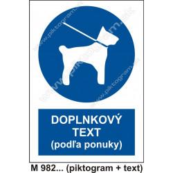 Príkaz vodenia psov na vodítku