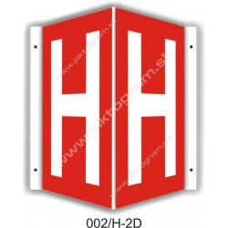 """H - podzemný hydrant označenie v tvare """"V"""""""
