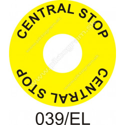 Central stop - označenie