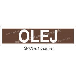 Olej - označenie potrubia