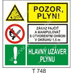 Pozor, plyn! Zákaz fajčiť a manipulovať s otvoreným ohňom. Hlavný uzáver plynu