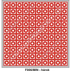 Tlačidlový hlásič požiaru (hárok so 100 ks)
