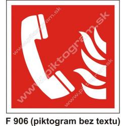 Ohlasovňa požiaru (podľa ISO 7010)