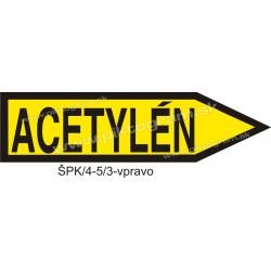 Acetylén - označenie potrubia