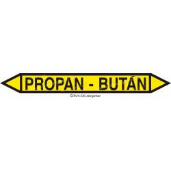 Propan - bután - označenie potrubia