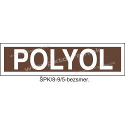 Polyol - označenie potrubia