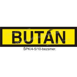 Bután - označenie potrubia