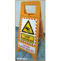 Plastový stojan - Pozor! klzká podlaha