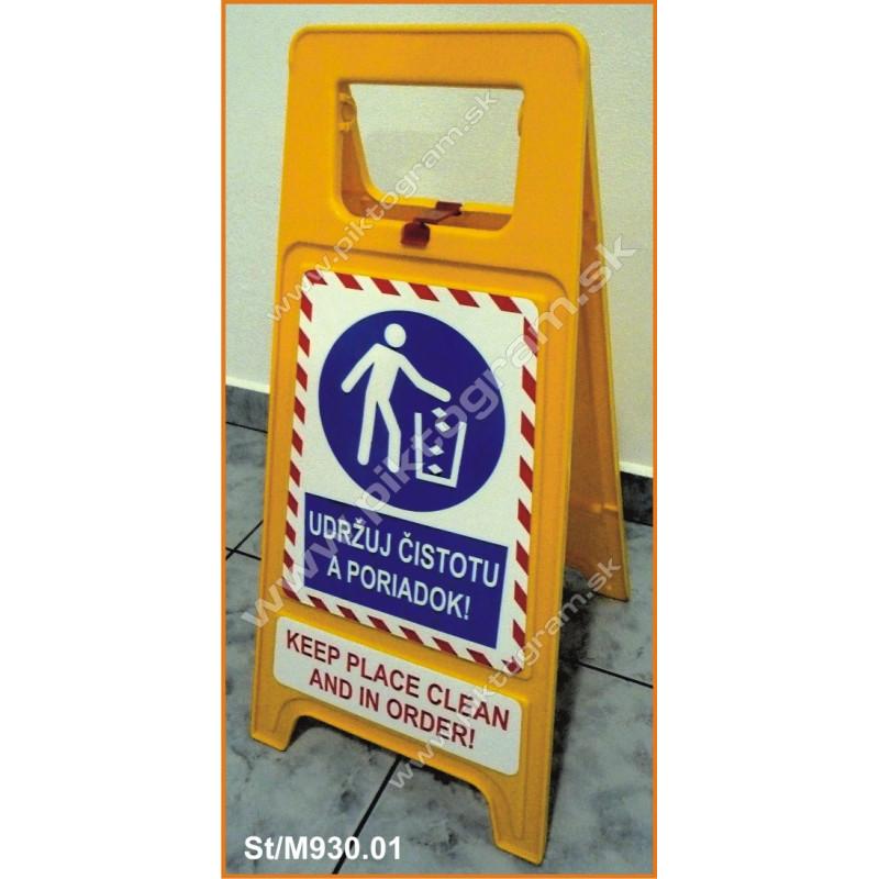 Plastový stojan - Udržuj čistotu a poriadok!
