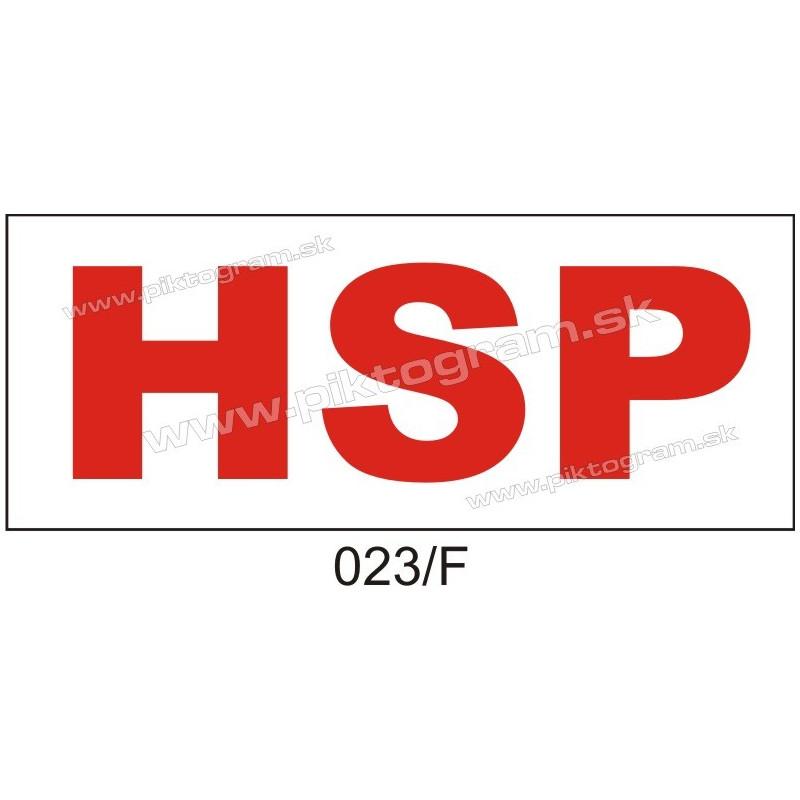 HSP - hlasová signalizácia požiaru