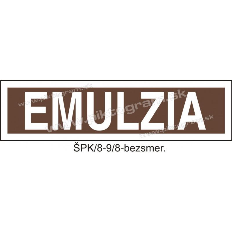 Emulzia - označenie potrubia