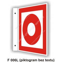 """Tlačidlový hlásič požiaru - obojstranné priestorové označenie v tvare """"L"""""""