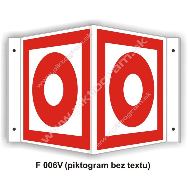 """Tlačidlový hlásič požiaru - obojstranné priestorové označenie v tvare """"V"""""""
