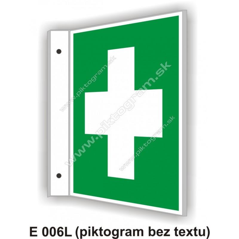 """Miesto prvej pomoci - obojstranné priestorové označenie v tvare """"L"""""""