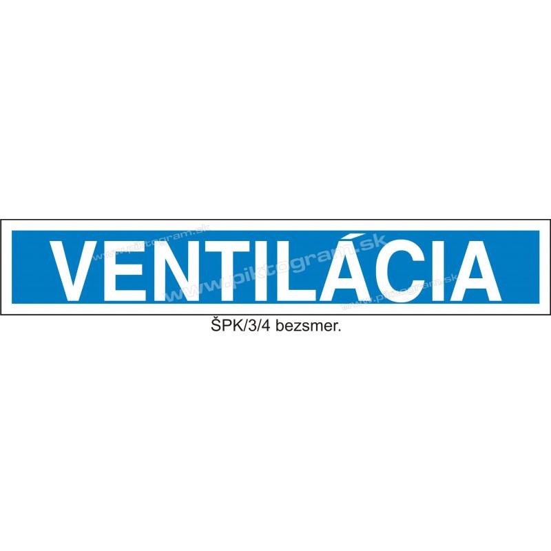 Ventilácia - označenie potrubia