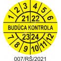 Budúca kontrola štítok - dátumový terčík 2021/22/23/24