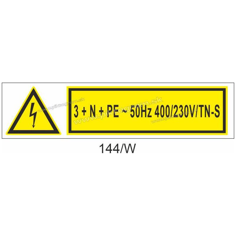 3 + N + PE ~ 50Hz 400/230V/TN-S