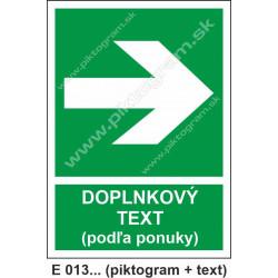 Smer na dosiahnutie bezpečia (E 013) vpravo