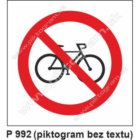 Zákaz vstupu s bicyklom