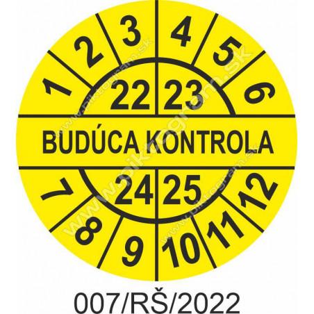 Budúca kontrola štítok - dátumový terčík 2022/23/24/25
