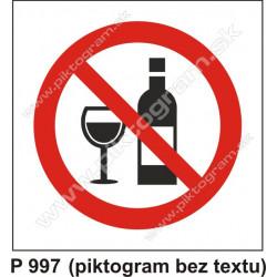 Zákaz požívania alkoholu (piktogram bez textu)