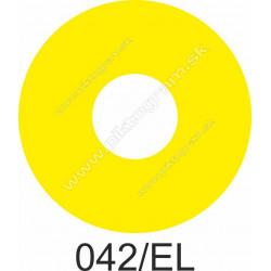 Žltý podklad k tlačidlu stop