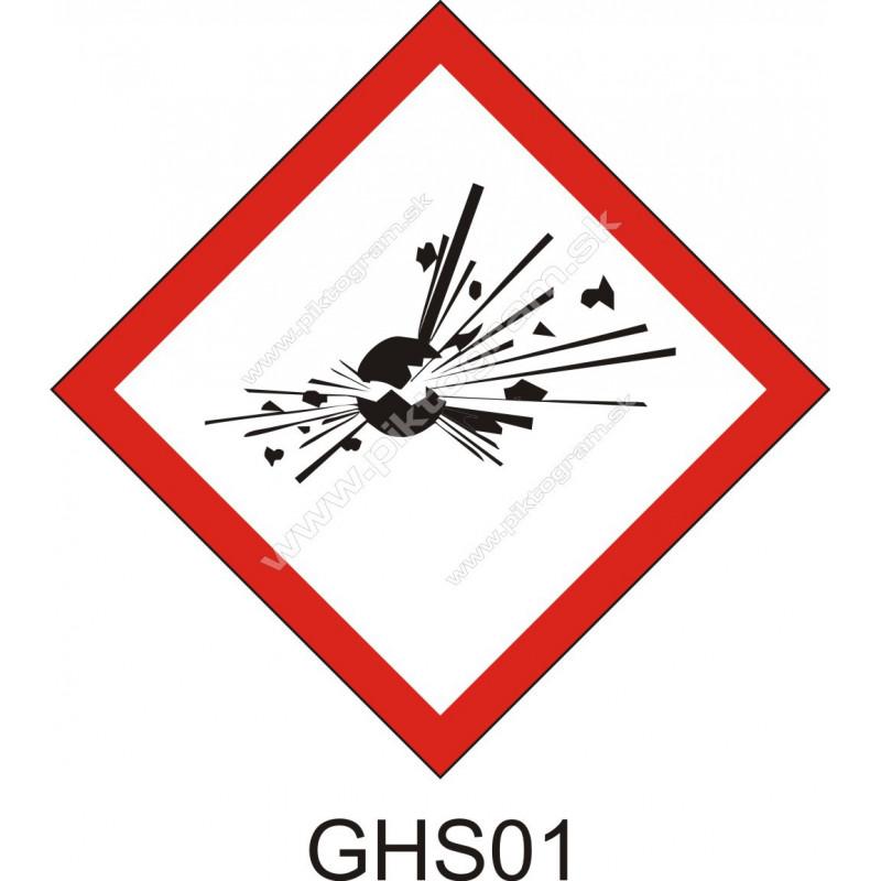 GHS01 - Výbušné látky a zmesi